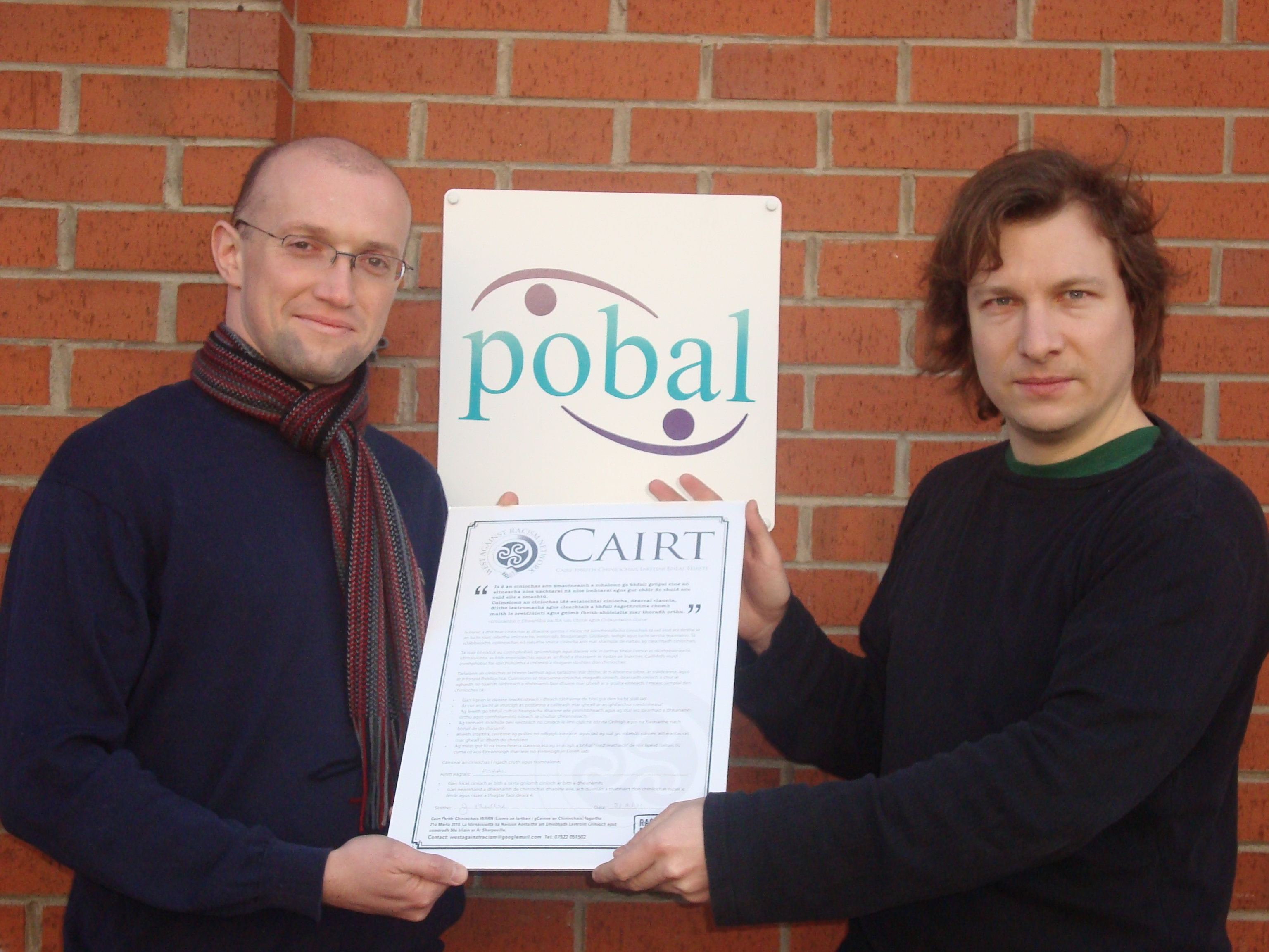 Pobal Signs The Charter