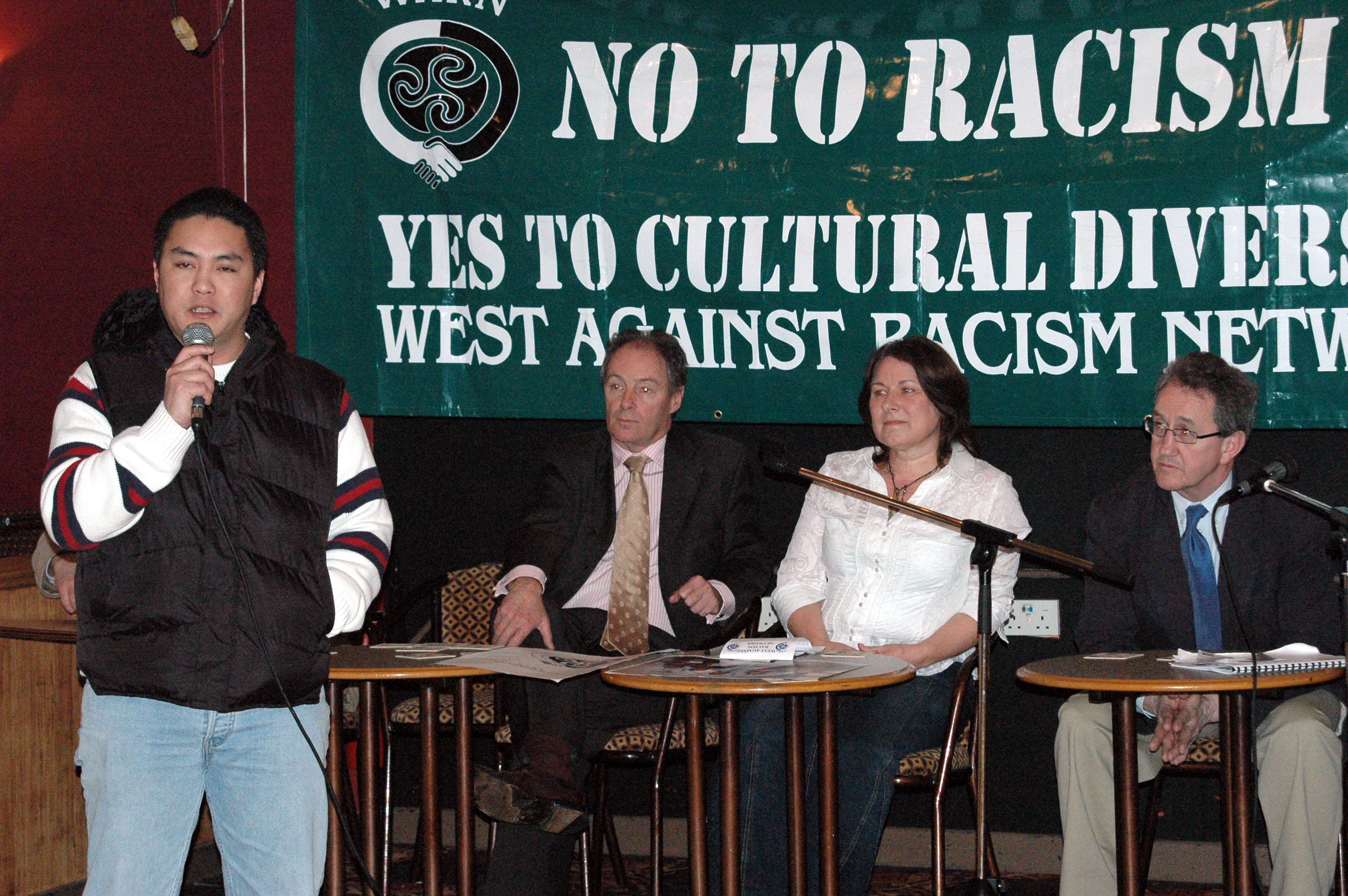 Member of Filipino Community Speaking At Launch