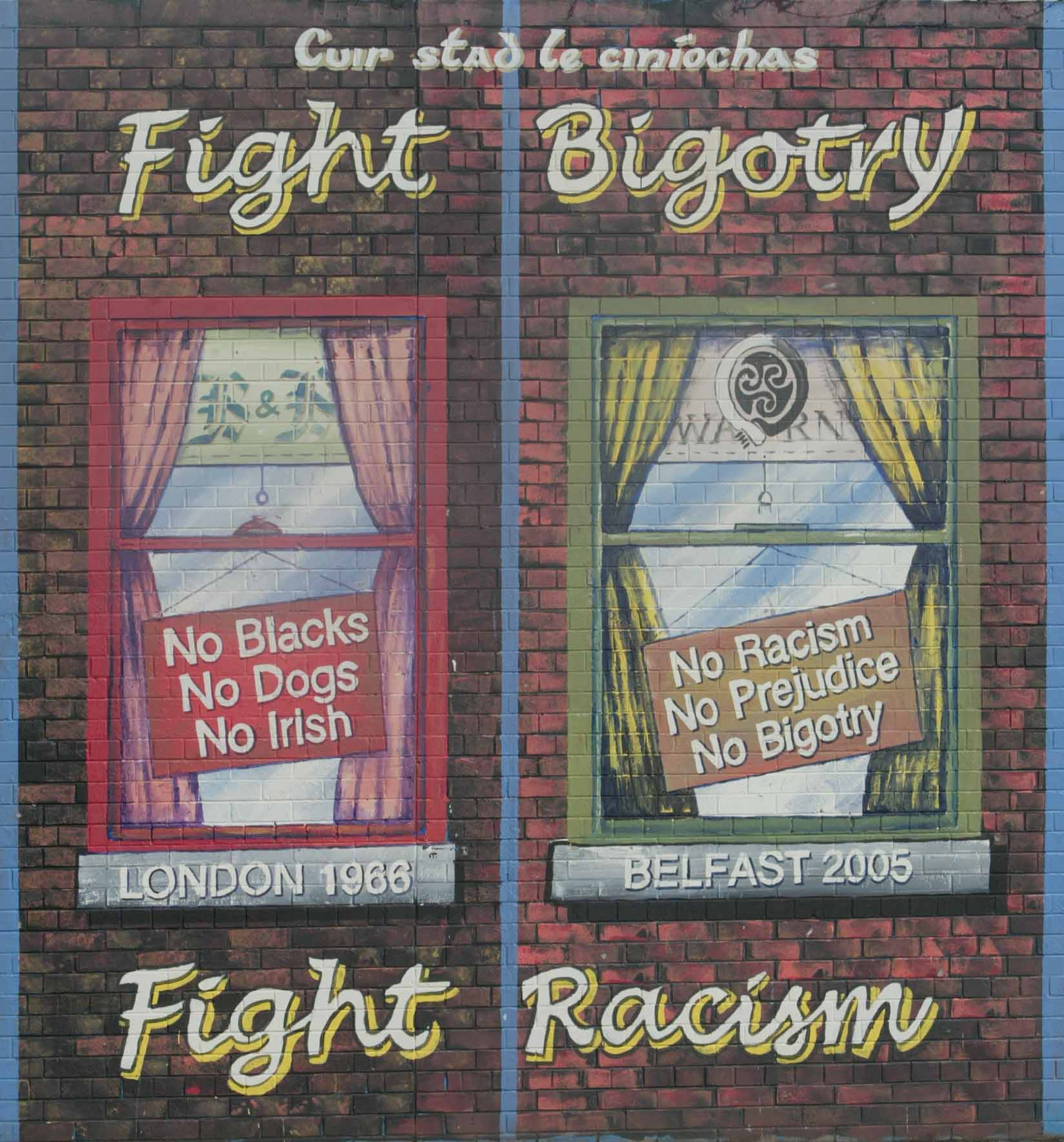 WARN Fight Bigotry Fight Racism Mural
