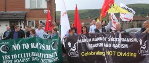 Vigil Against Racism West Belfast 10 June